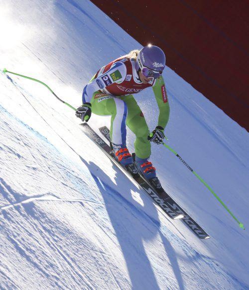 Sieg Nummer acht im Weltcup für Ilka Stuhec. Für die Weltmeisterin war der Sieg in Gröden der erste Erfolg seit ihrem Kreuzbandriss.gepa