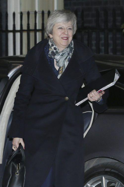 Theresa May kämpfte am Mittwoch um ihren Job. AP