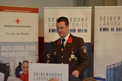 Thomas Brugger bei seinem Vortrag in der Seibersdorf Academy. lfwv