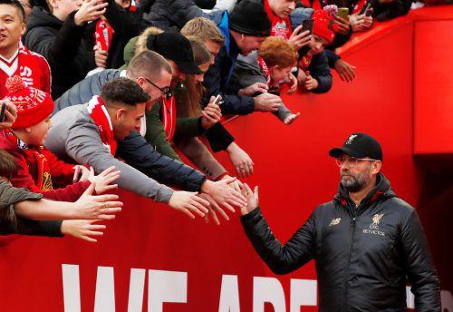 """Trainer Jürgen Klopp ist für die Euphorie rund um die """"Reds"""" verantwortlich.Reuters"""