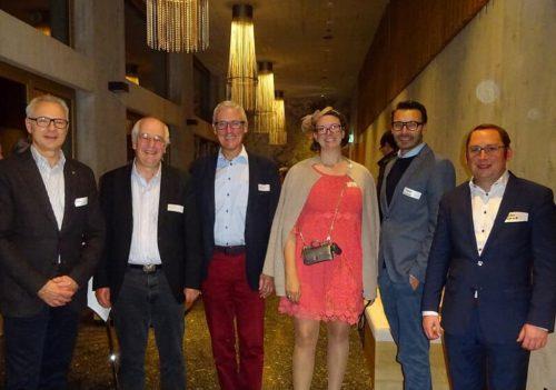 Treffen auf höchster Ebene – Regierungsrat Dölf Biasotto, Hans Altherr, Stephan Egger, Margit Hinterholzer, Thomas Geisler und Lukas Schrott. MH
