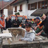 Ludescher Dorfbrunnen werden saniert