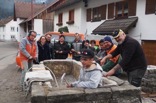 Die Ludescher Dorfbrunnen wurden fachmännisch saniert. Gemeinde