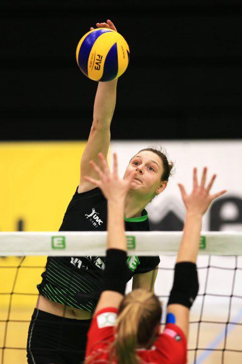 Ursula Ehrhart war Grazer Topskorerin bei der Heimniederlage im CEV-Cup.gepa