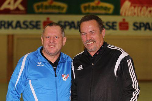 Walter Steinhauser (l.) und Fredy Hillberger sind seit 1991 Schiedsrichter. Knobel