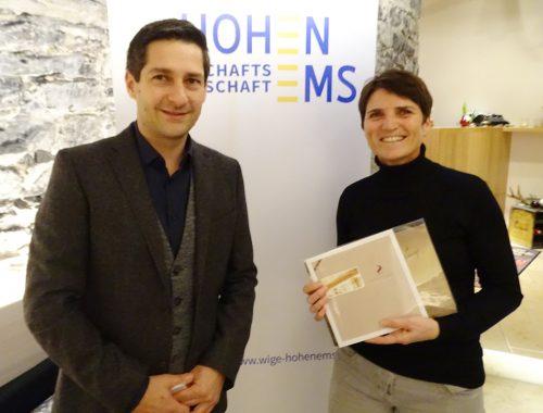 WIGE-Obmann Gunther Fenkart gratulierte Evelyn Mattei.