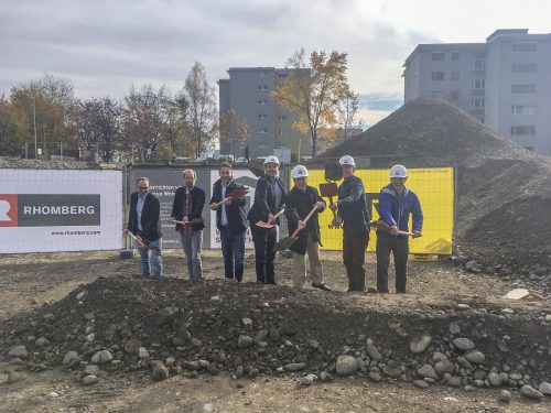 Wohnbauselbsthilfe, Rhomberg Bau und i+R Wohnbau errichten am Margarethendamm gemeinnützige und Eigentumswohnungen. Rhomberg Bau