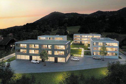 ZIMA realisierte das Wohn- und Geschäftsprojekt Kronenwiese Schlins.Bild: ZIMA