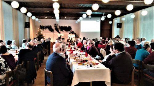 Zum Bersten voll war der Kolpingsaal bei der Weihnachtsfeier.pv vorarlberg