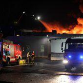 Großbrand im Galvanik-Werk