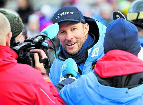 Aksel Lund Svindal war bei der Abfahrt in Kitzbühel nur Zuseher.apa