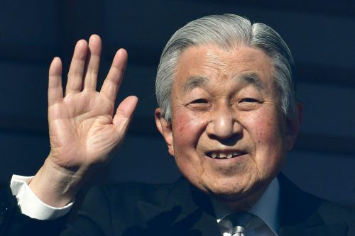 Am 2. Jänner hatte Kaiser Akihito Neujahrsgrüße an sein Volk gerichtet. AFP