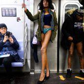 Tausende fahren ohne Hose U-Bahn