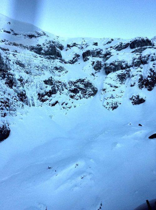 An dieser Felswand bei Grabs (SG) ereignete sich der tödliche Absturz. kapo