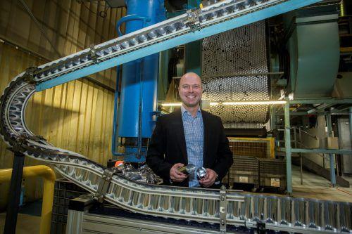 Andreas Mayer leitet die Geschicke von Ball Packaging in Ludesch.VN/Paulitsch