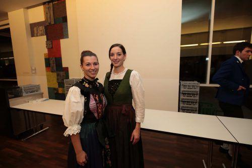 Barbara Fitsch (St. Gallenkirch) und Madita Buchacher (Laterns).