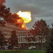 Explosion bei Renovierungsarbeiten