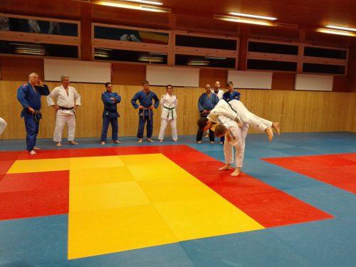 Beim Training konnten die Trainer so einiges dazu lernen.union judoclub hohenems