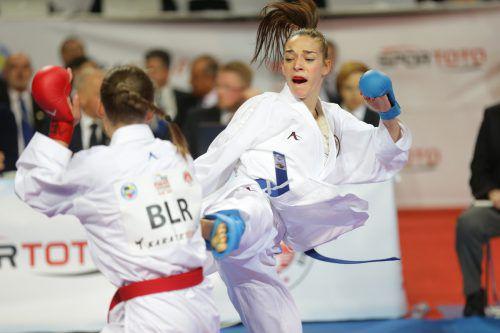 Vier Jahre nach ihrem Debüttitel 2015 kämpft Bettina Plank heute bei der Karate-EM in Spanien um Gold und wertvolle Punkte in der Olympiaqualifikation. ÖKB