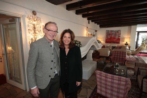 Bürgermeister Ludwig Muxel und Angelika Rein.