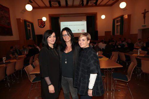 Carmen Jussel, Daniela Erath-Mohr und Sabine Meier (v. l.).meuburger/3
