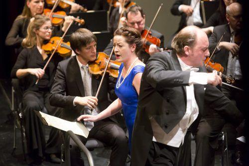Das Symphonieorchester Vorarlberg unter François Leleux und die Mezzosopranistin Hanna Hipp wurden intensiv bejubelt. SOV/Mathis