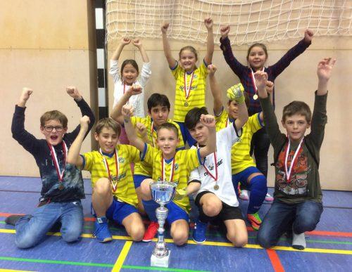 Das Team der 4a aus der VS Herrenried gewann das Turnier ganz klar.tf