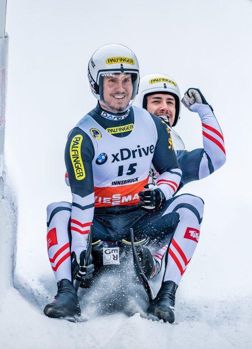 Der Bludenzer Thomas Steu (vorne ) und Lorenz Koller holten zwei Bronzene und wurden in der Staffel Vizeweltmeister.ÖRV