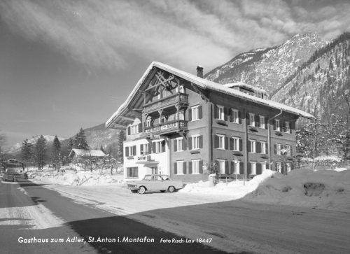 Der Gasthof Adler im Jahr 1963 kurz vor der Erweiterung.