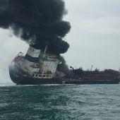 Tanker explodiert beim Betanken