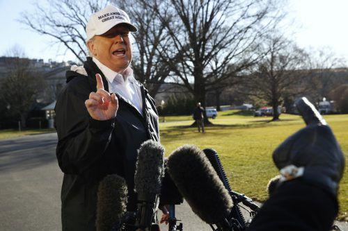 Der US-Präsident drohte zuletzt mehrfach damit, den nationalen Notstand auszurufen. AP
