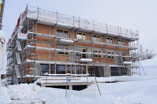 Die Bauarbeiten an der neuen Anlage in Langenegg liegen im Zeitplan.