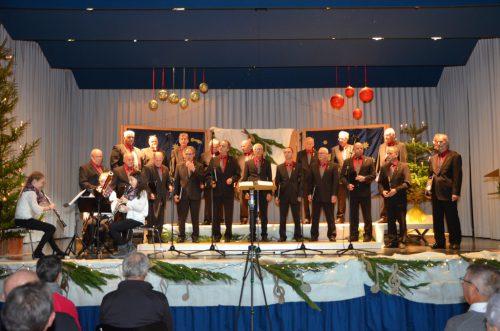 Die Chorweihnacht des Männerchors Muntlix am vierten Adventsonntag.                              männerchor muntlix