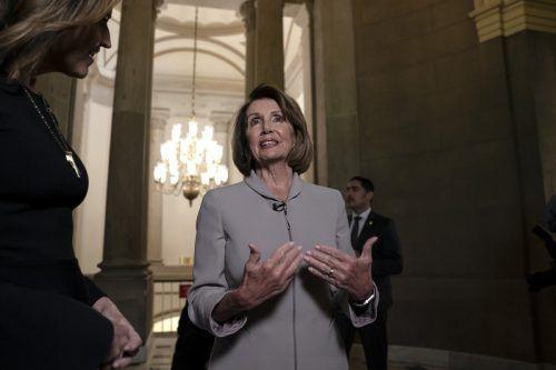 Die Demokratin Pelosi gilt als Trump-Gegenspielerin. AP