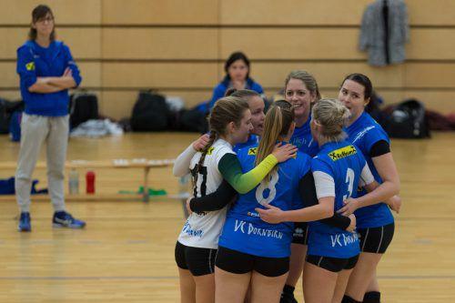 Die Dornbirnerinnen jubelten über einen 3:0-Sieg gegen Oberndorf.VN/DS