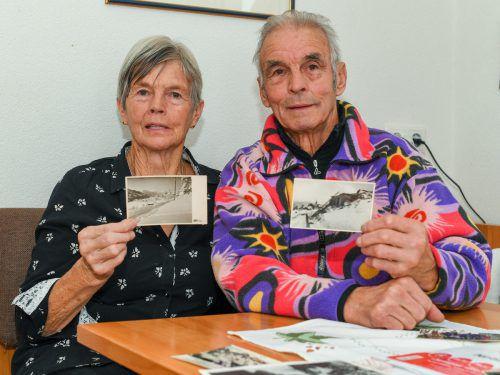 Die Geschwister Helga Domig und Gustav Jenni aus Blons überlebten 1954 die größte Lawinenkatastrophe in den Alpen, die insgesamt Dutzende Menschen das Leben kostete. Ihr Bruder Edwin (kleines Bild) kam auch ums Leben. Er wurde nur fünf Jahre alt. Das Kind wurde nie gefunden.  VN (1)/oliver Lerch