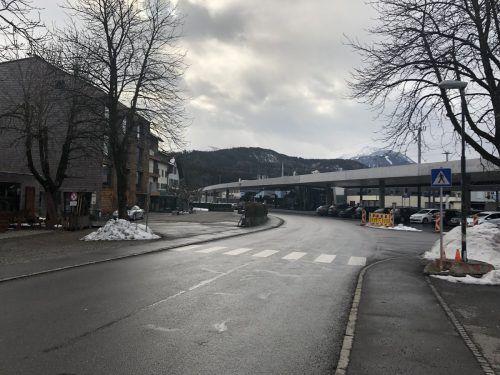 Die Kreuzlingerstraße wird beim Bahnhof Rankweil gesperrt. vn/schweigkofler