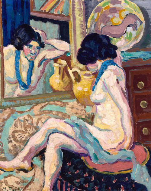 """Die Schau im Belvedere versammelt insgesamt 260 Exponate. Im Bild: """"Akt in den Spiegel blickend"""" von Helene Funke, 1908-1910."""