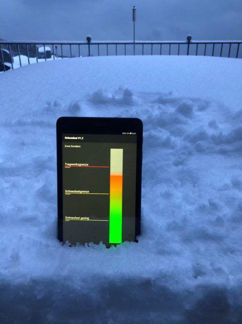 Die Schneelastsensoren sind derzeit in Eichenberg installiert. Grabher