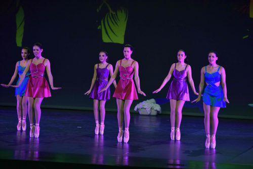 Die TänzerInnen widmeten sich heuer in ihrer Tanzperformance im Festspielhaus in Bregenz dem Thema Zeit. Verein terpsichore