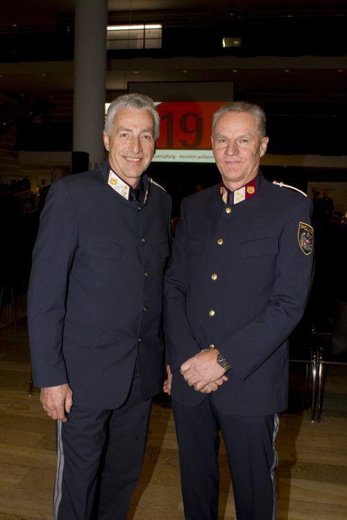 Erhielten die Sicherheitsmedaille: Peter Moosbrugger und Gerhard Maier.