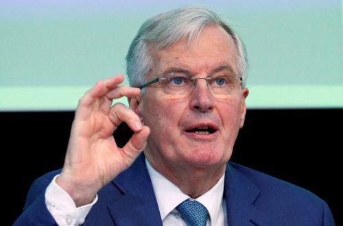 EU-Unterhändler Michel Barnier warnt vor einem Scheitern des Abkommens.reuters