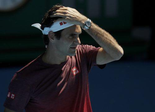 Federer sieht sich nicht als Favorit, möchte aber um den Titel mitspielen. AP