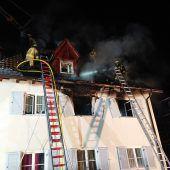 Hausbrand in Dornbirn macht 16 Bewohner vorübergehend obdachlos. B1