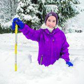 Meterweise Schnee
