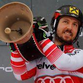 Alle Neune! Skistar Marcel Hirscher mit nächstem Rekord in Adelboden. C1, 2