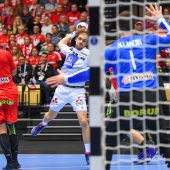 Olympiasieger Dänemark besiegt Österreich bei der Handball-WM 28:17. C1