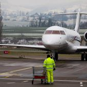 Am Flughafen Altenrhein herrscht zu WEF-Zeiten Hochbetrieb. D1