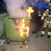 Feuer im Container