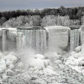 Eiszeit an den Niagarafällen